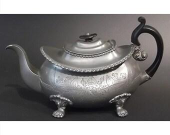 Dixon & Son antique pewter teapot