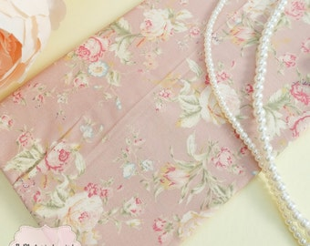 Dusty Pink Floral Cotton Fabric Pale Pink Peony Floral Fabric Sewing Fabric Floral Summer Fabric 100% Cotton Fabric For Craft