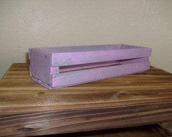 Rustic Wooden Crate, Pink Crate, Decoratvie Crate, Pink Wood Crate, Small Wood Crate, Pink Rustic Crate, Decorative Crate, Shabby Chic Crate