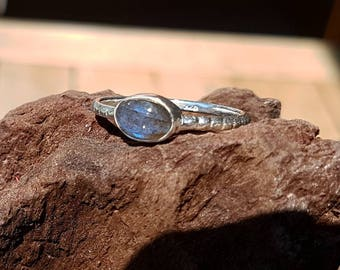 925 Sterling Silber Ring mit Labradorite