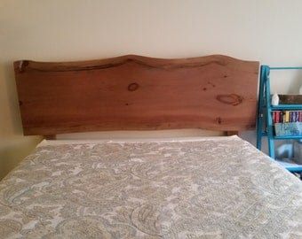 Live edge head board