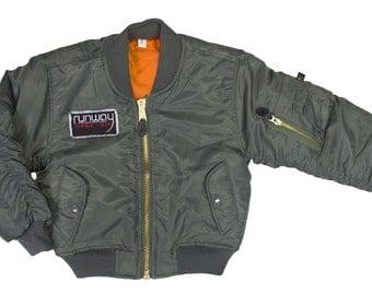 Green flight jacket | Etsy