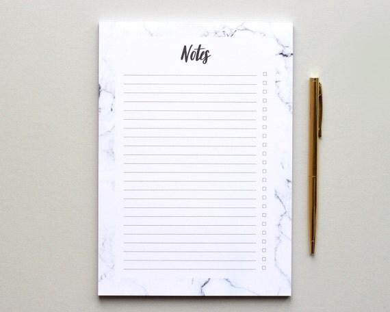 To Do List Bloc Notes A5 Marbre Bloc Note Tapis De