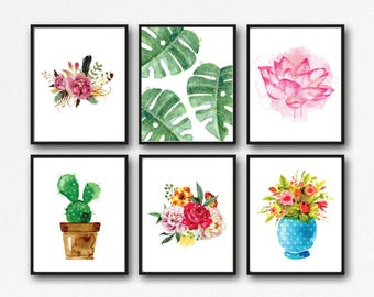 25 Prints - Plant and Flower Printable Set - Instant Download