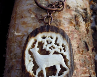 Deer keychain - Gift for him - Gift for men - Business gift - Deer pendant - Fathers Day Gift - Gift for Dad - Hunting Accessories