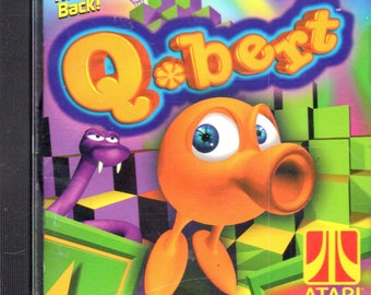 Q*Bert - Computer Game - CD-ROM - by Hasbro Interactive - Dos Win 95/98 Required - NM. pc