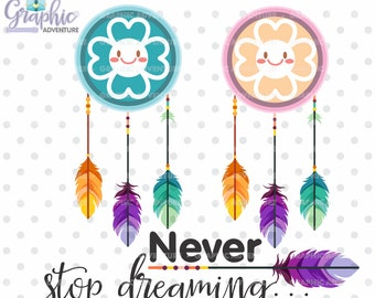 75%OFF - Dream Catcher Clipart, Dream Catcher Graphics, COMMERCIAL USE, Kawaii Clipart, Dream Clipart, Feather Clipart, Tribal Clipart, Boho