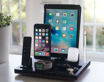 NytStnd TRAY 5 Midnight - FREE SHIPPING Charging Station Wireless iPhone 8 iPad Apple Watch Apple Tv Airpods Christmas Birthday Gift