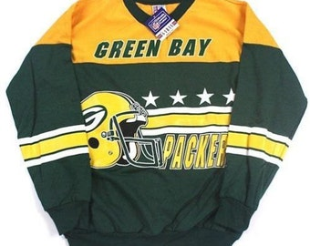 Vintage Green Bay Packers NFL football  sweatshirt by Garan made in the USA new with tags
