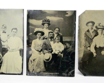 Original Antique Photographs and Tintypes Portraits of Woman and Men