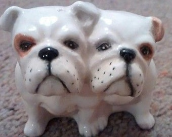 Vintage Beswick Pair of Bulldogs Seated Figures