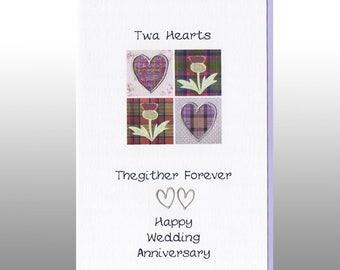 Anniversary Twa Hearts Card WWWE43