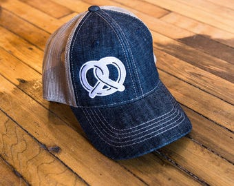 Pretzel Hat (Denim)
