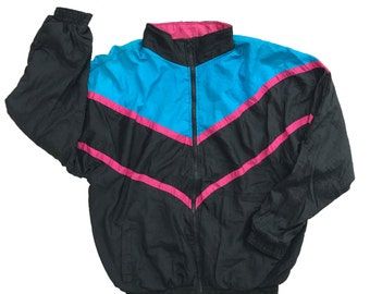 Vintage 80s 90s TRAXTON Multi-color Windbreaker