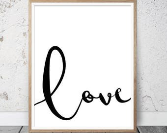 love quote, love printable poster, love wall print, love wall art, modern prints, valentines gift, wedding prints, contemporary wall prints,