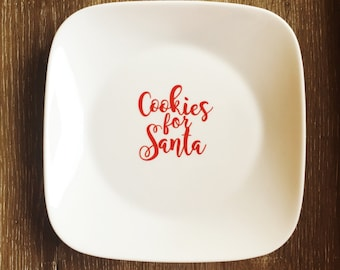 Cookies for Santa, cookie plate decal sticker (christmas)