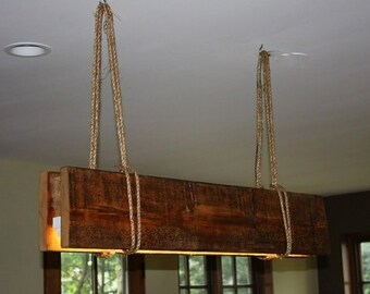 Rustic Reclaimed Wood Chandelier