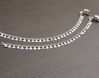 Trendy anklets jewelry | Ethnic tribal anklets | Indian women's payal | Hand crafted anklet | Daily wear anklet | Barefoot anklets | A118