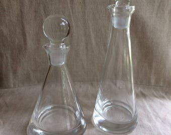 Pair of Vintage Oil and Vinegar Flasks