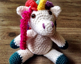 Crochet Unicorn Rattle, Crochet Unicorn, Crochet Rattle, Unicorn Rattle, Crochet Children's Toy, Baby Rattle, Crochet Baby Rattle