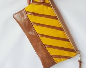 Mustard Yellow Wristlet - Wristlet Wallet - Womens Wallet - Faux Leather - Small Crossbody - Phone Wallet - Wristlet Purse - Bridesmaid Gift