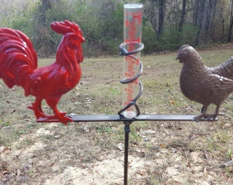 Herman the Red Rooster and Hilda the Hen