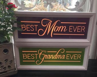 Mom Gift, Best Mom Ever, Best Grandma Ever, Best Coach Ever, Best Teacher Ever, Let them know how much they are loved in LIGHTS!