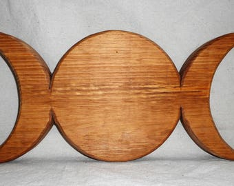 Triple Moon Goddess Wall Mount or other Decor
