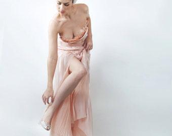 Event dress,chiffon dress, Embroidery couture dress.