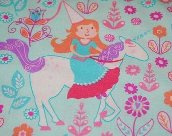 Princess Unicorn Fabric - Children Fairy Horse  by Michael Miller CX 6562 - CT115465 100 Percent Quality Cotton by the Yard