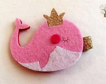 Whale hair clips