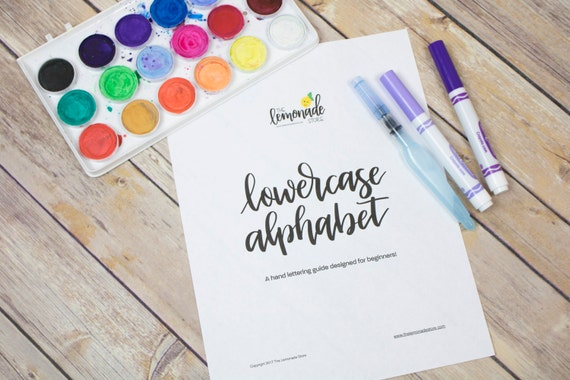 Lowercase alphabet practice guides for beginners hand