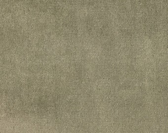 Velvet Upholstery Fabric - Byron - Driftwood - Premium Plush Sateen Velvet Upholstery Fabric by the Yard - Available in 49 Colors