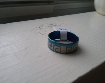 Blue and Silver Ring size 8