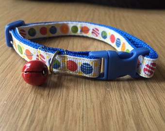 Solar System Planets with Blue Cat/Kitten Collar (Quick Release)