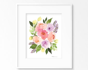 Rose Poppies INSTANT DOWNLOAD