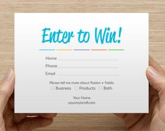 Rodan + Fields Enter to Win Card (Customized Digital PDF)