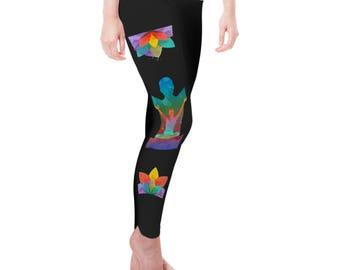 Rainbow Yoga Sukhasana Women's Leggings