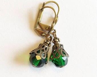 Emerald Earrings, Emerald Drop Earrings, Emerald Jewelry, Green Earrings, Green Drop Earrings, Green Jewelry, Drop Earrings, Irish Earrings