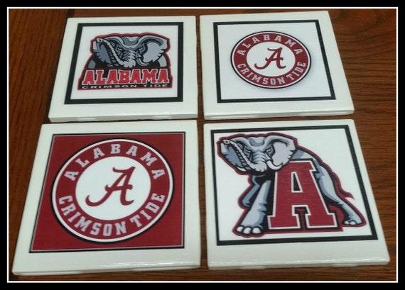 Home Decor Alabama Football Coasters Decorative Ceramic