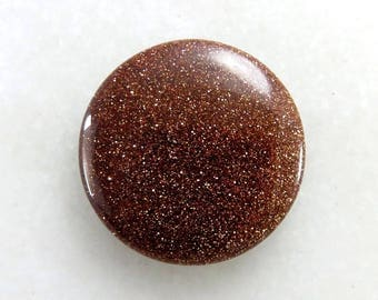 Golden Sandstone Excellent!! Round Shape Loose Gemstone Cabochon, 30X30X5mm, 38Cts, Jewelry Making, Semi Precious, Gemstone, B-2601