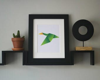 Geometric Duck Print, Digital Download