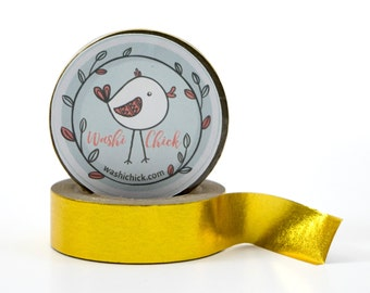 Gold Foil Washi Tape - bright gold, yellow gold