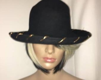 Vintage Black Stratton Hat. Smokey The Bear type hat. Excellent Condition