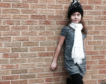 Hand Knit Beanie // Handmade Winter Hat // Knit Pom Pom Hat