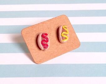 Hot dog earrings!