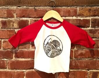 T-shirt child, unisex, mountain, 12-18 months
