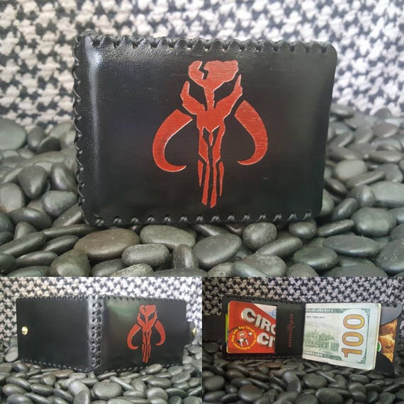 Mandalorian Bifold wallet made from Premium English Bridle leather.
