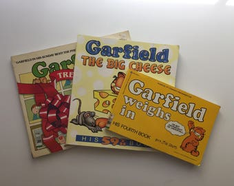 Vintage Garfield Comic Books Lot Of 3 by Jim Davis