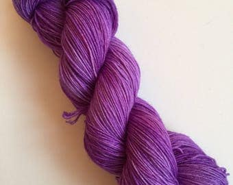 Violet Semi-Solid Hand Dyed Sock Yarn 100g DYED TO ORDER